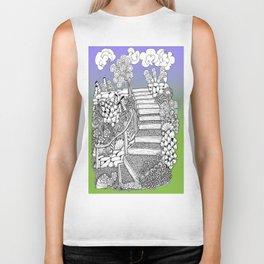 Zentangle Stairway to Heaven Biker Tank