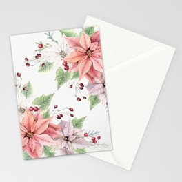 Poinsettia 2 Stationery Cards