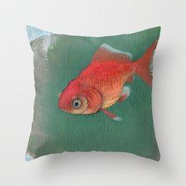 Goldfish #3 Throw Pillow