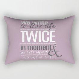 Typography - Anais Nin Rectangular Pillow