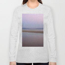 Pink sunset. Serenity beach Long Sleeve T-shirt