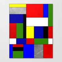 mondrian Canvas Prints featuring Mondrian #4 by Ron Trickett