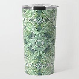 turquoise kaleidoscope pattern Travel Mug