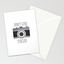 Don't Lose Focus! Stationery Cards
