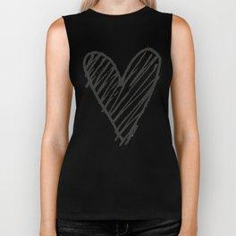 Ink hearts pattern 2 Biker Tank