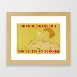 Van Velsen Belgian beer Framed Art Print
