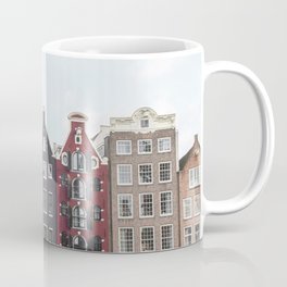 Typical Houses Of Amsterdam Picture | Dutch Urban City Architecture Art Print | Europe Travel Photography Coffee Mug