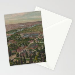 Vintage Pictorial Map of Philadelphia PA (1876) Stationery Cards