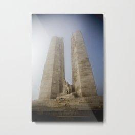 Towers in the mist Metal Print