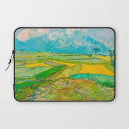Wheat Fields after the Rain (The Plain of Auvers), July 1890 Oil Painting by Vincent van Gogh Laptop Sleeve