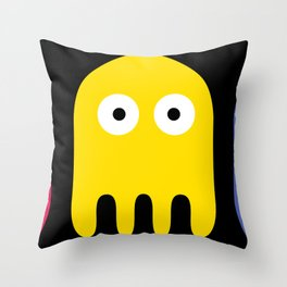 Pacman Enemy Throw Pillow