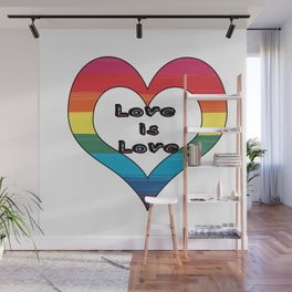 LGBT Pride-Love is Love Design Wall Mural