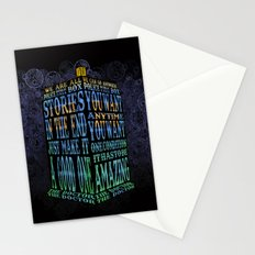 Tardis Doctor who Typography iPhone, ipod, ipad, pillow case and tshirt Stationery Cards