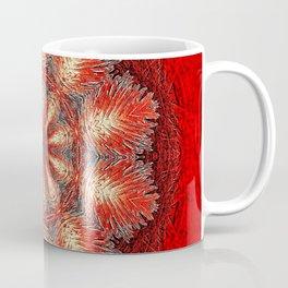 Red Vintage Flower Background Pattern Coffee Mug