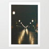 Night in Bordeaux Art Print