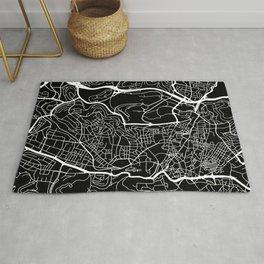 Street MAP Jerusalem // Black&White Rug