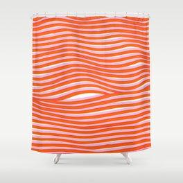 electric zebra stripes Shower Curtain