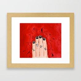 All of Alex's Love Framed Art Print