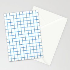 Grid (Azure/White) Stationery Cards