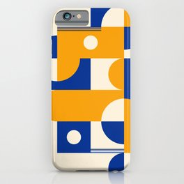 Yellow & Blue  iPhone Case