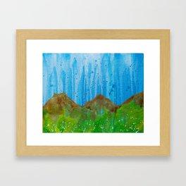 Rain on the Rockies Framed Art Print