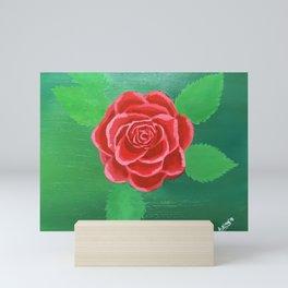 "RED ROSE Painting | Original | 11x14"" | Acrylic Painting | Wall Art | Home Decor | Gorgeous Mini Art Print"