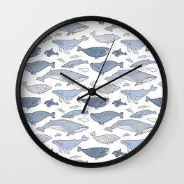 Whale pattern Wall Clock