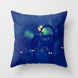 DARK FOREST Throw Pillow