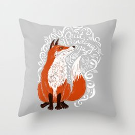The Fox Says Throw Pillow