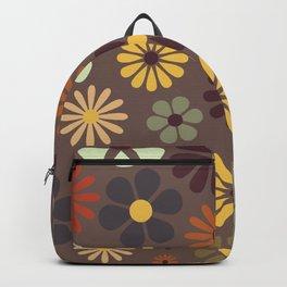 Flower Power Retro Hippy Flowers Backpack