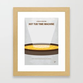 No612 My Hot Tub Time Machine minimal movie poster Framed Art Print