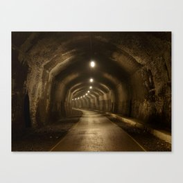 Headstone Tunnel Canvas Print