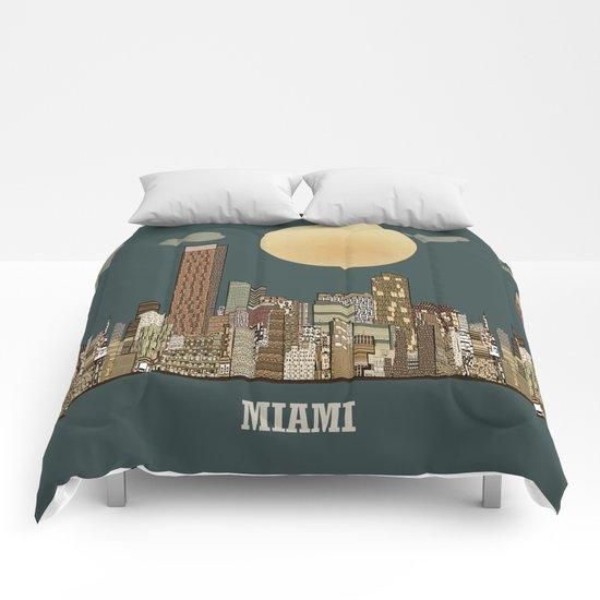 miami city  Comforters