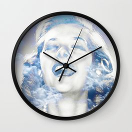 Living Above The Clouds - Raw Catz Wall Clock
