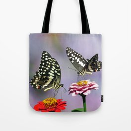 Swallow tail  or Christmas Butterfly Tote Bag