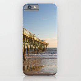 Outer Banks Fishing Pier and Ocean Seascape iPhone Case