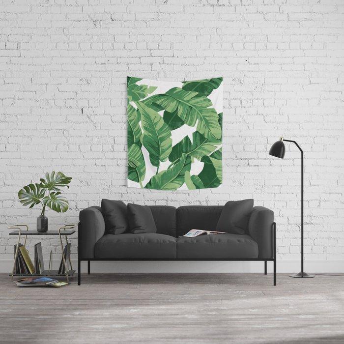 Tropical banana leaves IV Wall Tapestry