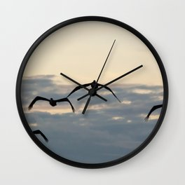 Pelicans in the Sky Wall Clock