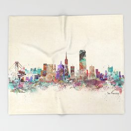 San Francisco city Throw Blanket