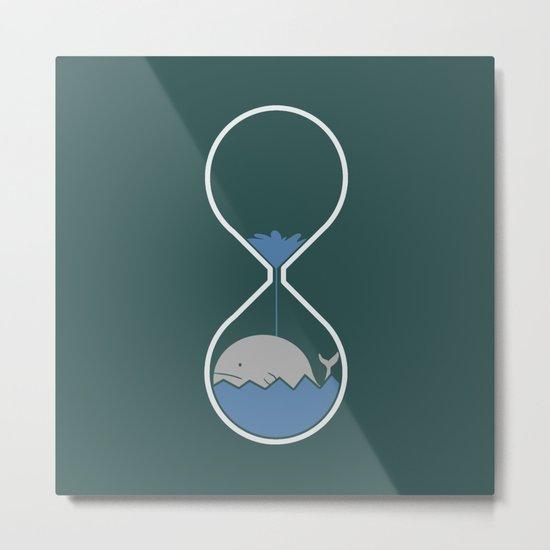 whale hourglass Metal Print