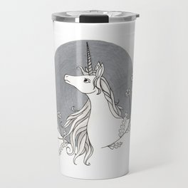 Unicorn & Nemophila Travel Mug