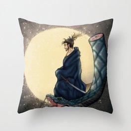 Shattered Samurai Throw Pillow
