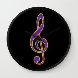 Rainbow G Clef Treble Clef Music Lover Musician Wall Clock