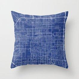 Springfield Map, USA - Blue Throw Pillow