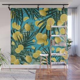 Summer Lemon Twist Jungle #4 #tropical #decor #art #society6 Wall Mural