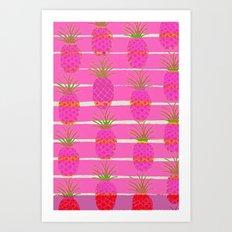 Pink Pineapples Art Print