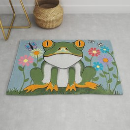 Just Chillin Frog Rug