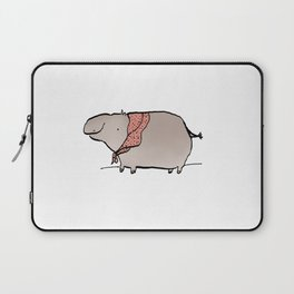Hippo Wearing A Shawl Laptop Sleeve