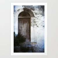 italian Art Prints featuring Italian Door by Maria Heyens
