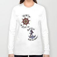larry stylinson Long Sleeve T-shirts featuring Helm and Anchor. (Larry Stylinson) by Arabella